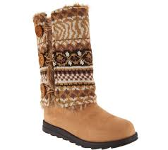 sweater boots muk luks andrea 4 in 1 boot with reversible boot sweater page 1