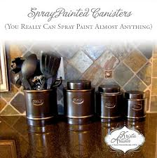 bronze kitchen canisters plain kitchen canisters are given a new look with rubbed