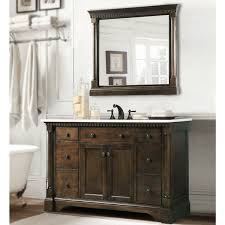 Marble Top Bathroom Cabinet Carrara Marble Top Bathroom Vanity In Coffee Bean White Finish