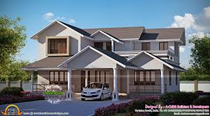 Kerala Home Design Thrissur by 2752 Sq Ft 5 Bedroom House In 2 Colours Kerala Home Design And