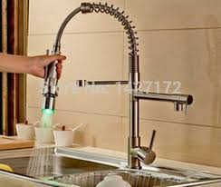 led kitchen faucets discount led brushed nickel kitchen faucets 2017 led brushed
