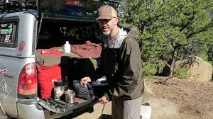 truck camping kitchen set up youtube