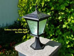 pillar or column mount solar lights galaxy solar lighting for