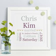 personalised wedding gifts personalised wedding gift typographic print by spotty n stripy