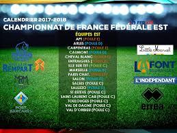 Calendrier Fdration Franaise De Calendrier Federale Est Fédération Française De Rugby à Xiii