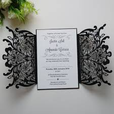 Black And White Invitation Card Compare Prices On Invitation Card Black Online Shopping Buy Low