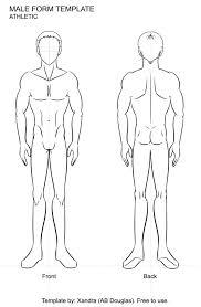 male figure athletic by xandra sama on deviantart