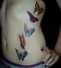 butterfly on ribs design idea for and