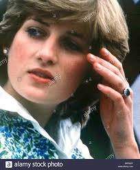 ring diana princess diana wearing engagement ring stock photo royalty