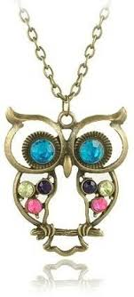 owl jewelry necklace images Crunchy fashion chic owl necklace alloy pendant price in india jpeg