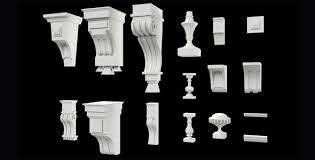 architectural retro ornaments style decors pack by va2m