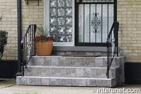 tile on steps and small porch interunet
