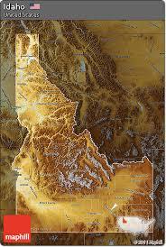 physical map of idaho free physical map of idaho darken
