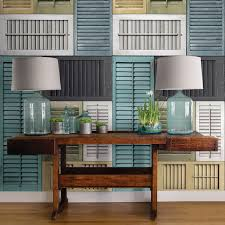 shabby chic decorating with salvaged shutters brewster home salvaged shutter wall mural