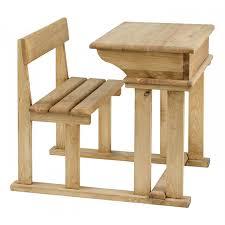 bureau ecolier 1 place pupitre d écolier en bois brut à peindre achat vente bureau