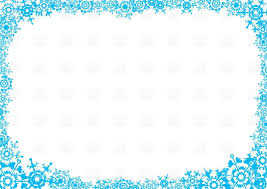 frost frame with snowflakes postcard vector clipart image 33572