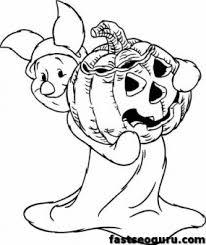 winnie pooh piglet printable halloween coloring pages disney