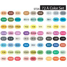 copic sketch marker set 72a color markerpop com