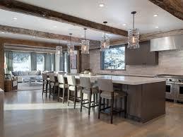 Living Room Recessed Lighting Exposed Beams White Countertop Recessed Lighting Gray Counter