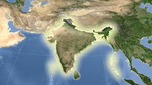 India On Map by India On The Satellite Map Outlined And Glowed Motion Background
