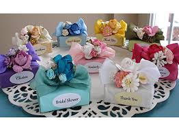 personalized bridal shower favors personalized mini soap favor decorated with flowers