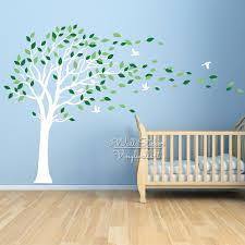 baby nursery tree wall sticker birds leaves tree wall decal diy