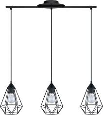 Black Pendant Ceiling Light Eglo 94189a Tarbes Modern Matte Black Multi Drop Ceiling Light