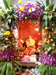 interior design decoration themes for ganesh festival at home