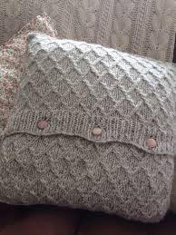 Patterns For Knitted Cushion Covers Diamond Lattice Knitted Cushion Cover Pattern Poddington And P