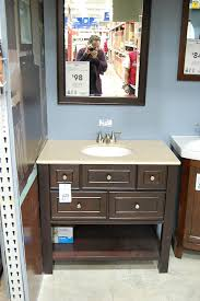 Bathroom Vanities At Lowes A Vanity For The Black And White 1940s Bathroom 7 Day Gut