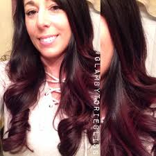 perfect hair revamp for fall black to red wine ombre