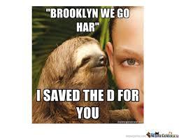 Sloth Whisper Meme - rape sloth goes hard in bk by tomapples meme center