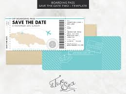 Digital Save The Date Boarding Pass Save The Date Template 2 U2014 Two If By Sea Studios