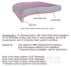 Cushion Construction Drop Front Seat Cushion Specifications Eisenhour Church Furnishings