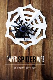 paper spiderweb u2014 all for the boys