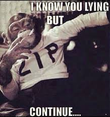 Lie Memes - i know you lying but continue weknowmemes