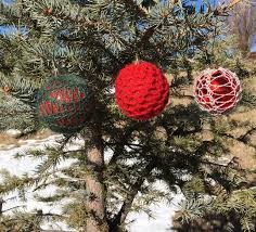 5 christmas ornament covers loom knit patterns