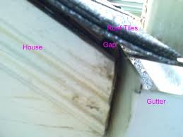 gap roofing gap between roof tile and gutter roofing heat drain installed