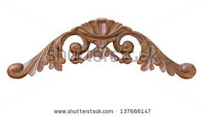 ornate wood carving ornament on white stock photo 137666147