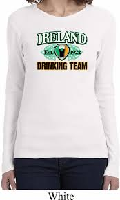 St Patrick U0027s Day Ireland Drinking Team Ladies Long Sleeve Shirt