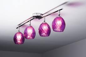 luminaire chambre d enfant lustres violet détails sur 4 spots sur rail plafonnier le