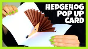 hedgehog pop up card paper craft for kids fall craft ideas for