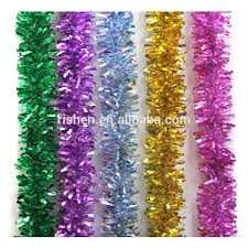 pet pvc shinny purple tinsel icicles hang tree