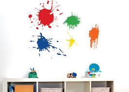 playroom wall decal 5 paint splotches playroom vinyl zoom