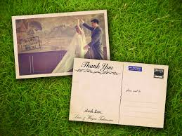 wedding postcards thank you card pictures collection postcard thank you cards