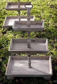 3 tier stand rustic 3 tier stands 35in