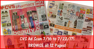 cvs black friday 2017 cvs ad scan for 7 16 to 7 22 17 browse all 12 pages