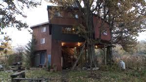 this alaskan tree house has a rustic charm youtube