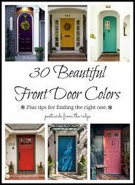 Exterior Door Color Brick Color Schemes Front Door Colors For Yellow House
