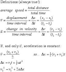 kinematic equations for general physics physics pinterest